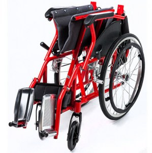 Elf, Light Folding Aluminium Wheelchair to 75kg.